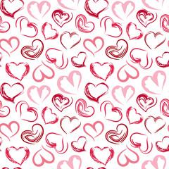 Seamless pattern hearts.