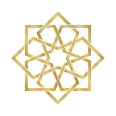Gold Arabesque Ornament