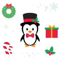 cute penguin vector cartoon illustration