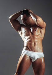 Handsome man or muscular macho