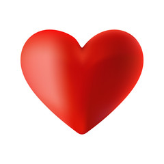 Vector illustration of a red heart on the day of Valentine - gradient mesh