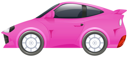 Racing car in pink color