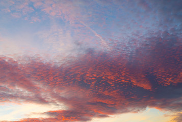 Dark sunset sky cloud pink colorful afterglow