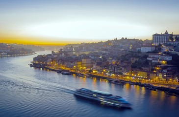 Porto skyline at sunset, Portugal