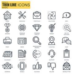 Thin line basic icons