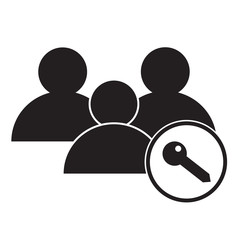 user access icon on white background. user access sign.