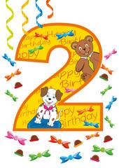 buon compleanno numero 2