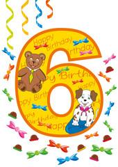 buon compleanno numero 6