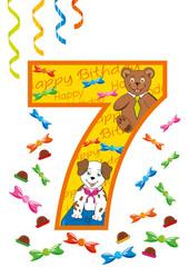 buon compleanno numero 7