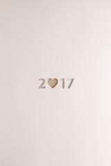 2017 brown heart card
