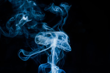 jellyfish shape on smoke