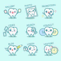 tooth set with web design