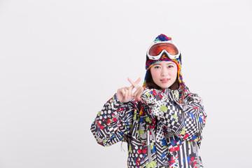 ウィンタースポーツ・女性(白バック)