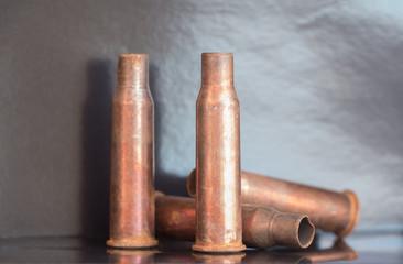 7.62 mm caliber rifle old bullet casings