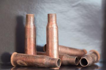 7.62 mm caliber rifle rust bullet casings