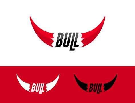 Bull logo design template. Flat bull logo sign. Taurus symbol element vector