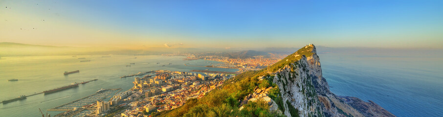 The Rock of Gibraltar, a British overseas territory
