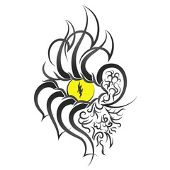 Eye pattern tattoo
