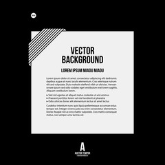 Monochrome text background in strict style. Useful for presentations and web design.