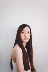 Beautiful Asian young woman portrait