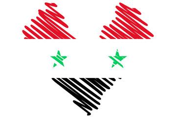 Herz Flagge Syrien