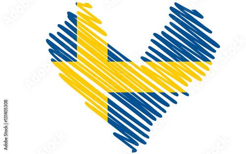 herz flagge schweden stockfotos und lizenzfreie bilder auf bild 131405308. Black Bedroom Furniture Sets. Home Design Ideas