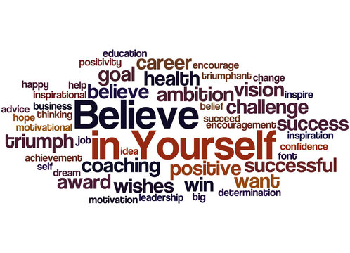 Believe in Yourself, word cloud concept 2