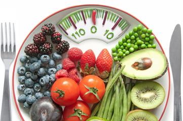 Bathroom scales diet concept
