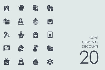 Set of Christmas discounts icons