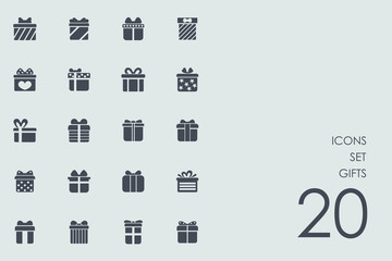 Set of gifts icons