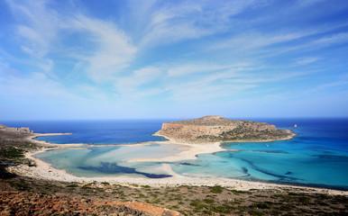 Balos lagoon on Crete island - Greece