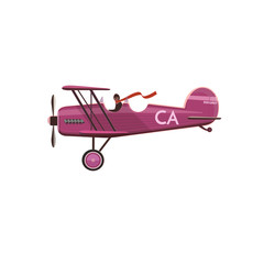 Biplane icon, cartoon, style