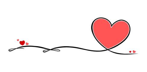Valentinstag Schleife Herzen