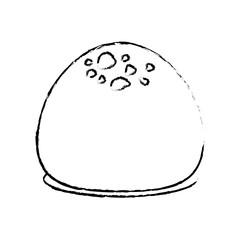 Dessert sweet roll icon vector illustration graphic design
