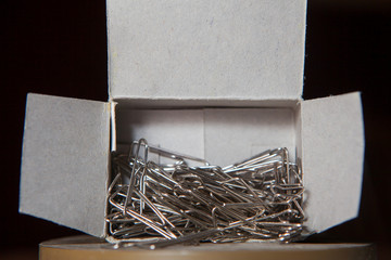 paperclips in a box