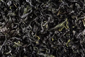 Japanese dried seaweed called wakame