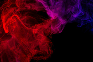 Garden Poster Smoke Abstract smoke Weipa. Personal vaporizers fragrant steam. The concept of alternative non-nicotine smoking. Purple pink smoke on a black background. E-cigarette. Evaporator. Taking Close-up. Vaping.