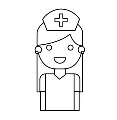 nurse avatar character isolated icon vector illustration design