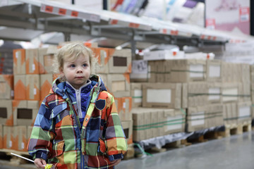 Child at warehouse space