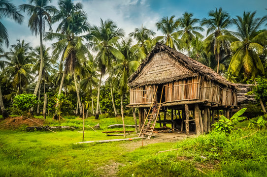Bamboo house in Palembe