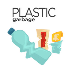 Vector plastic garbage or trash