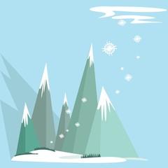 Winter landscape. Vector illustration.