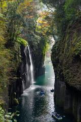 Takachiho gorge at Miyazaki of Japan