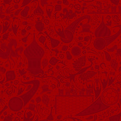 Russian red seamless pattern, vector illustration