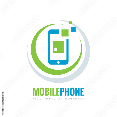 """Mobile phone vector logo template concept illustration ..."