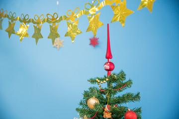 Новый год. Верхушка на праздничной елке