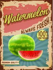 watermelon vintage banner