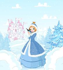 Wall Murals Fairytale World Winter Princess
