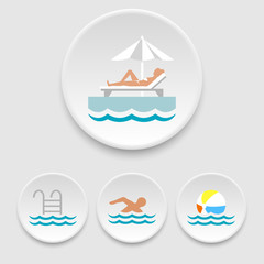 Swimming-pool icons