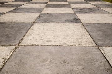Checkerd floor